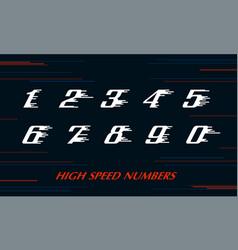 Speed sport numbers set logo design template vector