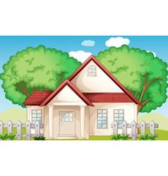 Suburban house vector