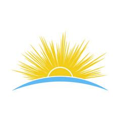 sun and sea travel logo template vector image