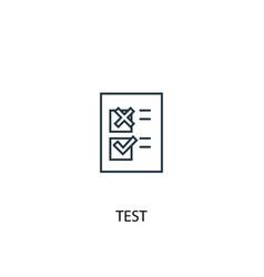 test concept line icon simple element vector image