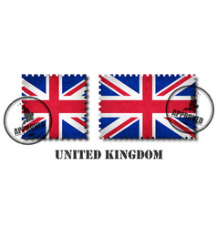 united kingdom great britain flag pattern vector image