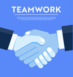 Unity teamwork blue concept vector