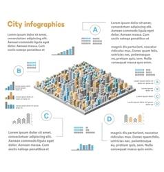 Urban infographics city vector