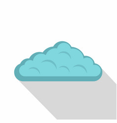 Wet cloud icon flat style vector