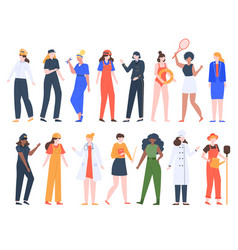 women job professions female workers lady vector image