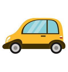yellow eco car transport image vector image