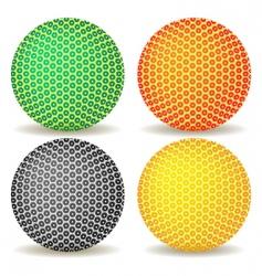 abstract ball icon vector image vector image