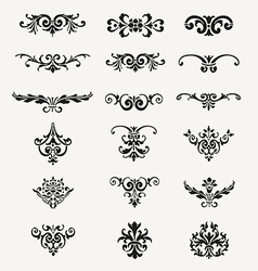 Calligraphic Decorative Design Elements Vintage Ve vector image