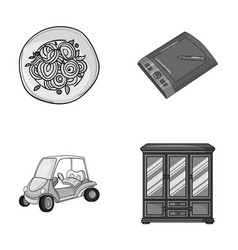 Cooking sport and other monochrome icon in vector