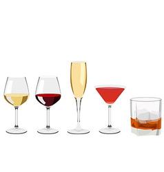 Glass set vector image