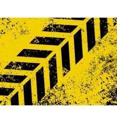 grungy hazard strip vector image