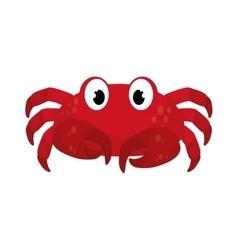 Marine crab cartoon vector image vector image