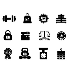 scales and weighing icon set vector image
