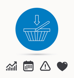 shopping cart icon online buying sign vector image