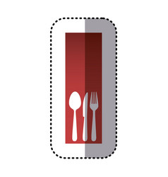 sticker red rectangle banner frame with vector image vector image