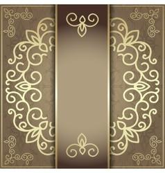 Stylish invitation card elegant golden design vector image