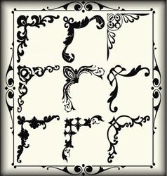 Vintage design elements corners vector image vector image