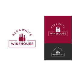 wine logo set design background vector image vector image