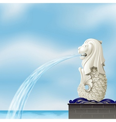 A white merlion vector image vector image