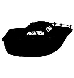 motor yacht vector image vector image