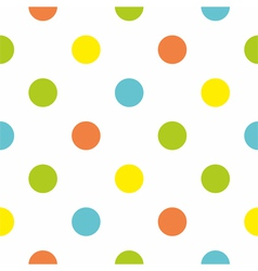 Seamless background with big colorful polka dots vector image vector image