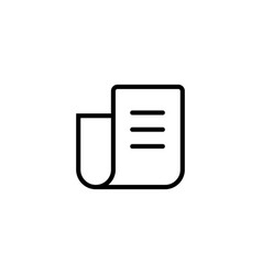 thin line newspaper icon vector image