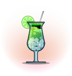 cocktails drinks in glasses vector image