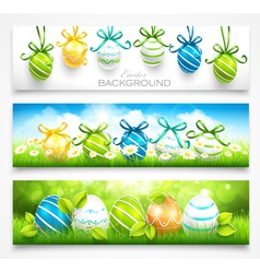 Collection of easter banners vector image vector image