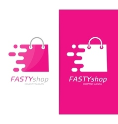 fast package logo combination Speed bag vector image vector image