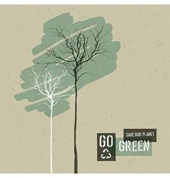 go green concept vector image vector image