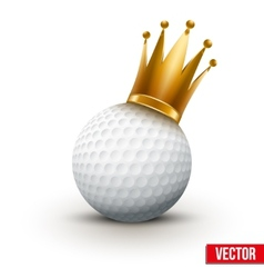 Golf ball with royal queen crown vector image vector image
