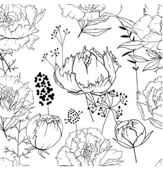 Seamless season pattern with contour lack and vector