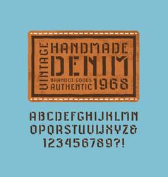 stencil-plate sans serif font vector image vector image