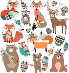 Woodland tribal animals volume 2 vector