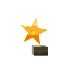 Award star icon cartoon style vector image vector image