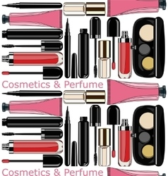 cosmetics and perfume seamless pattern vector image