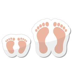 Footprint icon - baby child and adult vector image vector image