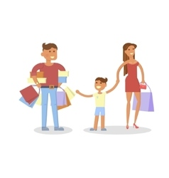 Happy family concept vector image vector image