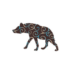 hyena predator color silhouette animal vector image vector image