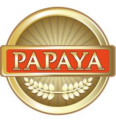 papaya gold icon vector image vector image