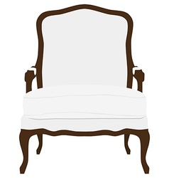 Vintage white armchair vector image