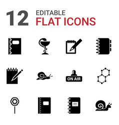 12 spiral icons vector image