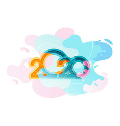 2020 calendar abstract background vector