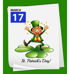 A poster showing St Patricks day vector image