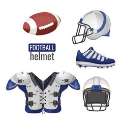 american football player outfit sportsuit vector image
