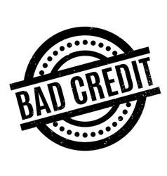 bad credit rubber stamp vector image