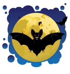 Bats and moon vector