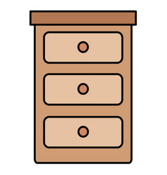 bedroom drawer isolated icon vector image