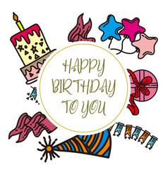 birthday anniversary design graphic template vector image