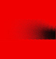 black and red dotted halftone banner vector image